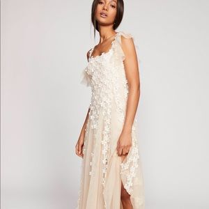 Free People One Lily's Holiday Lace Mesh Dress Sm